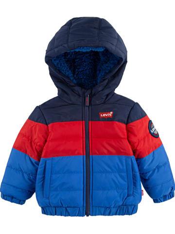 Levi's Kids Kurtka zimowa w kolorze niebiesko-czerwonym