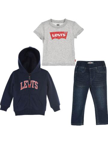 Levi's Kids 3-częściowy zestaw w kolorze szaro-granatowym