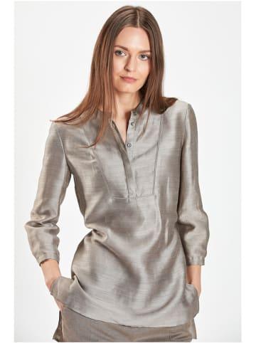 PATRIZIA ARYTON Lniana bluzka w kolorze jasnobrązowym