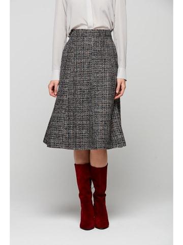 PATRIZIA ARYTON Spódnica w kolorze szarym ze wzorem