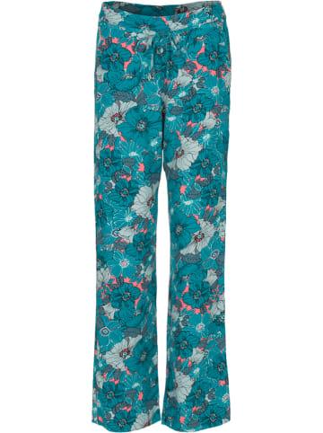 """LA LIGNA Broek """"Broek Alanis"""" turquoise/roze"""