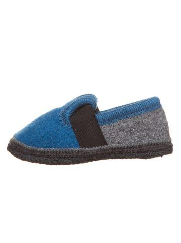 Lamino Hausschuhe in Blau/ Grau