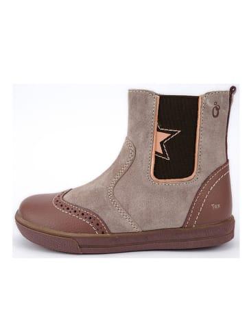 Lamino Leder-Chelsea-Boots in Pink