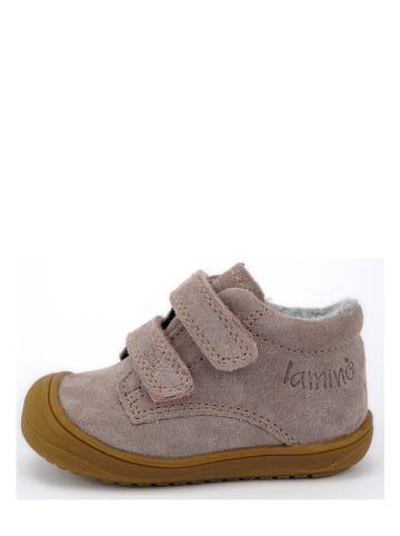 Lamino Skórzane buty w kolorze różowym do nauki chodzenia