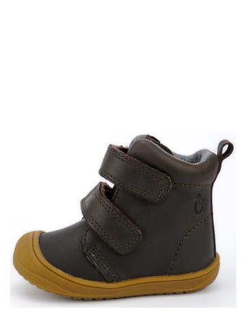 Lamino Leder-Boots in Dunkelbraun