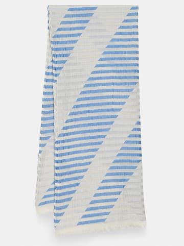 """Someday Szal """"Bilessia"""" w kolorze biało-niebieskim - 190 x 80 cm"""