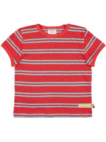 Loud + proud Koszulka w kolorze błękitno-czerwonym