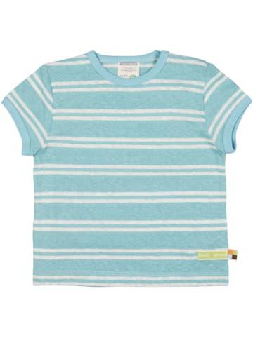 Loud + proud Koszulka w kolorze błękitno-białym
