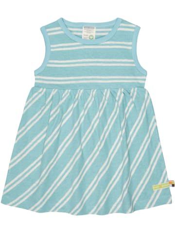 Loud + proud Sukienka w kolorze błękitno-białym
