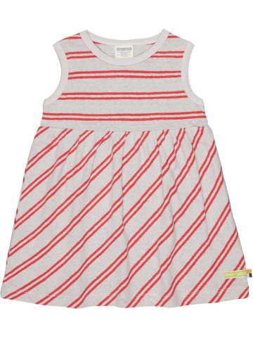 Loud + proud Sukienka w kolorze czerwono-szarym