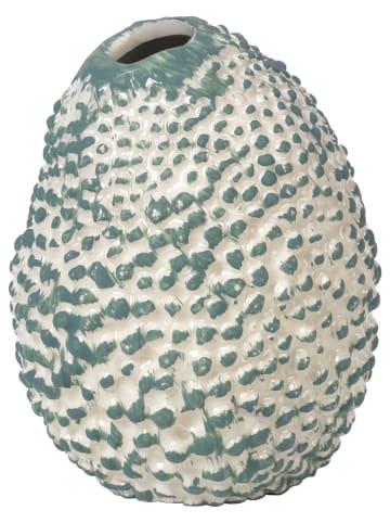 """Broste Copenhagen Wazon """"Corals"""" w kolorze zielono-białym - 10 x 12 x 9,5 cm"""