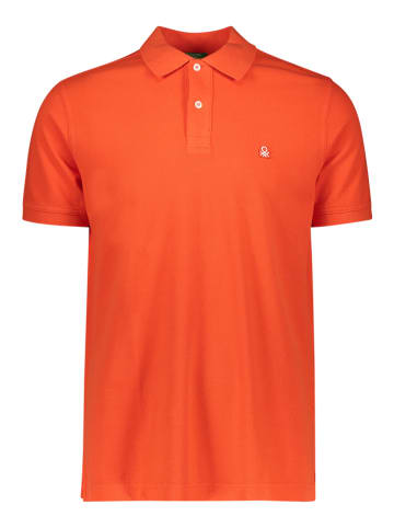 Benetton Koszulka polo w kolorze czerwonym