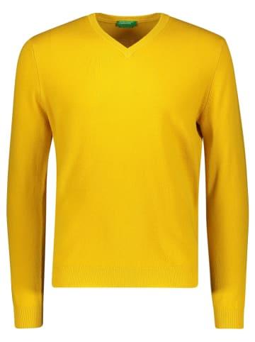 Benetton Wollpullover in Gelb