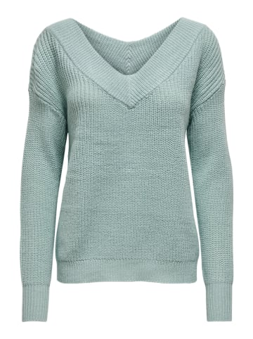 "ONLY Sweter ""Melton"" w kolorze turkusowym"