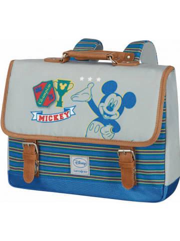 """Samsonite Tornister """"Disney Stylies"""" w kolorze niebiesko-zielonym - 27 x 34,5 x 10 cm"""