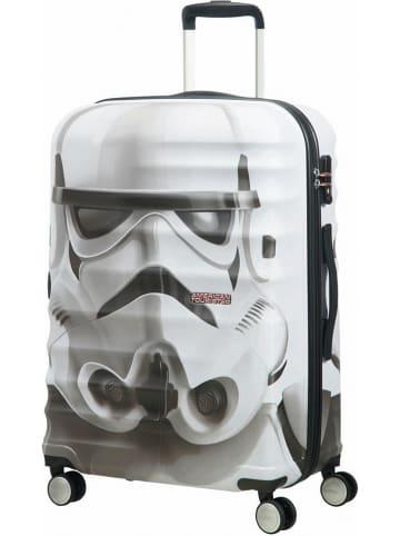 """American Tourister Walizka """"Star Wars"""" w kolorze biało-czarnym - 47 x 67 x 26 cm"""
