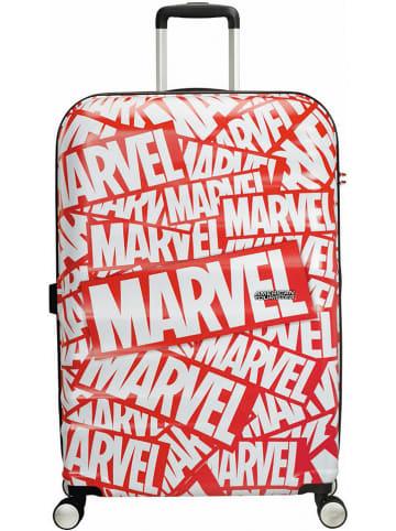 """American Tourister Walizka """"Marvel"""" w kolorze czerwono-białym - 52 x 77 x 29 cm"""