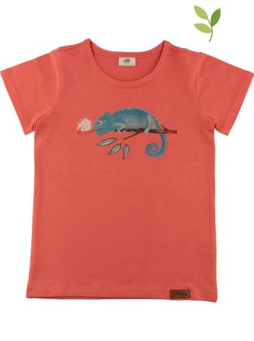 Walkiddy Koszulka w kolorze koralowym