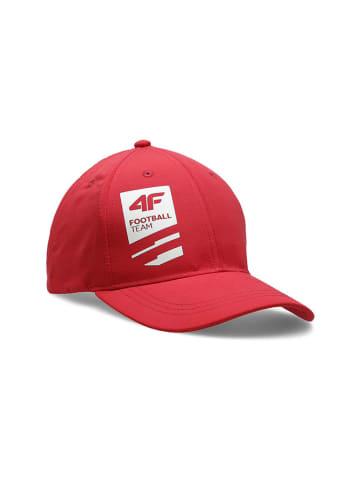 4F Czapka w kolorze czerwonym
