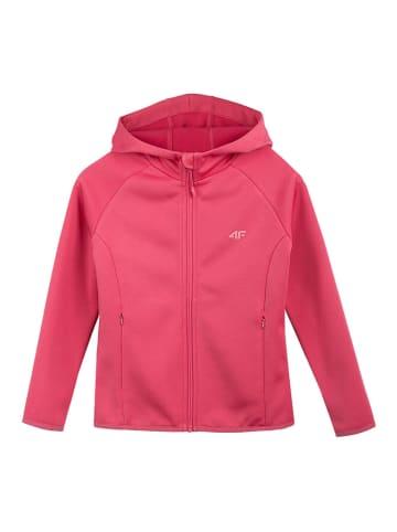 4F Bluza polarowa w kolorze różowym