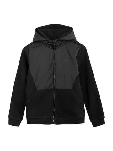 4F Bluza polatrowa w kolorze czarnym