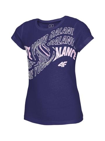 4F T-shirt w kolorze granatowym