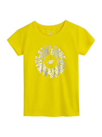 4F T-shirt w kolorze żółtym