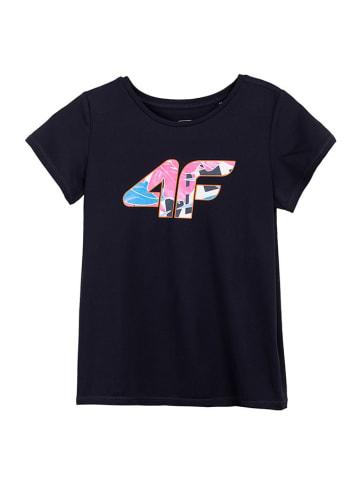 4F T-shirt funkcyjny w kolorze granatowym