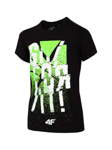 4F T-shirt w kolorze czarnym