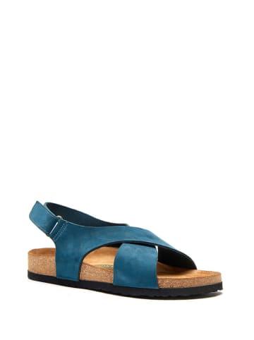 Comfortfusse Skórzane sandały w kolorze granatowym