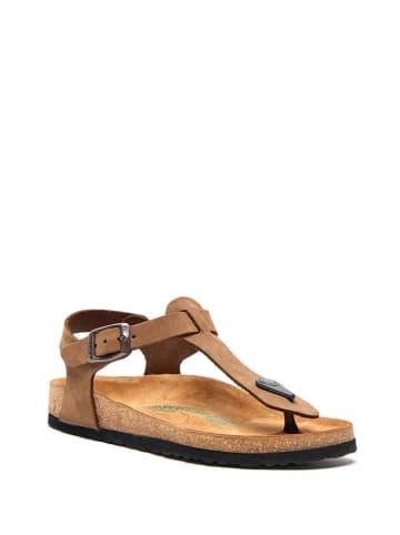 Comfortfusse Skórzane sandały w kolorze piaskowym