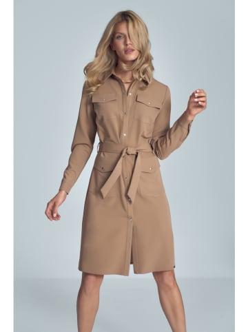 Figl Sukienka w kolorze jasnobrązowym
