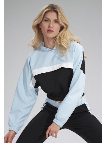 Figl Sweatshirt zwart/lichtblauw