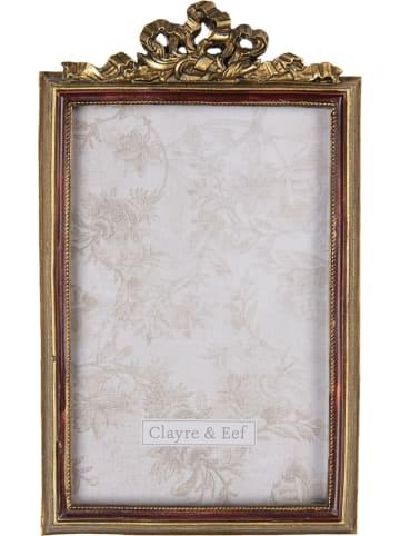 Clayre & Eef Ramka w kolorze złotym na zdjęcia - 12 x 19 cm