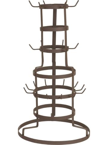 Clayre & Eef Uchwyt w kolorze brązowym na kubki - wys. 54 x Ø 30 cm