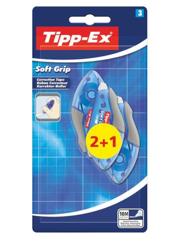 """TippEx Korrekturroller """"Tipp-Ex Soft Grip"""" - 3 Stück à 10 m"""