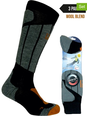 Norfolk 3-delige set: ski-/snowboardsokken zwart