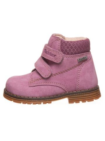 Richter Shoes Leren boots lichtroze