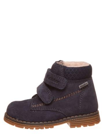 Richter Shoes Leren boots donkerblauw