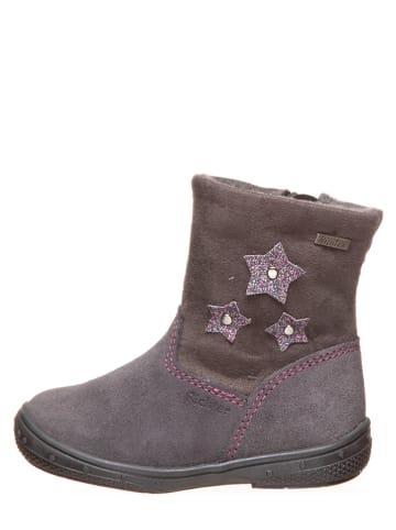 Richter Shoes Leder-Winterboots in Grau