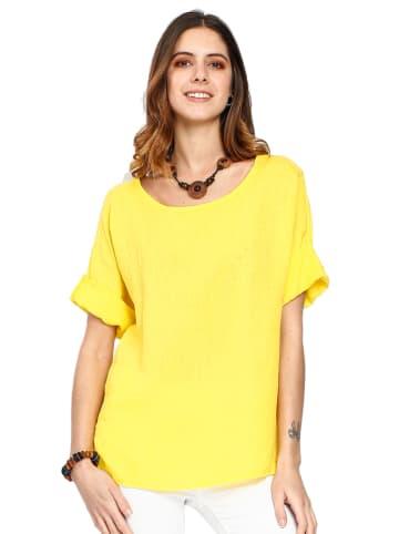 Le Jardin du Lin Lniana koszulka w kolorze żółtym