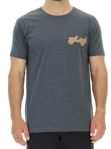 Jeep T-shirt w kolorze szarym