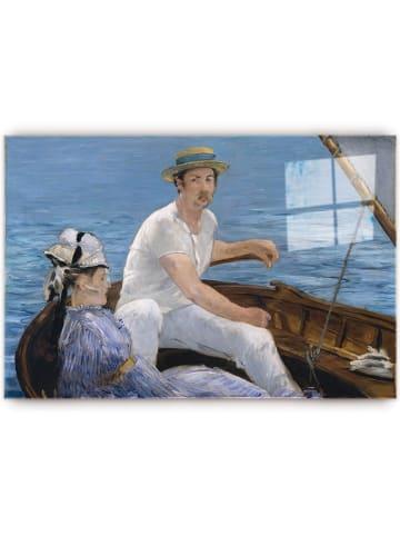 """Pandora Trade Kunstdruk op glas """"Edouard Manet - Boating, 1874"""" - (B)70 x (H)46 cm"""