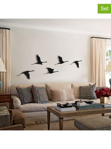 """Pandora Trade 5-delige set: wanddecoratie """"Flying birds"""""""