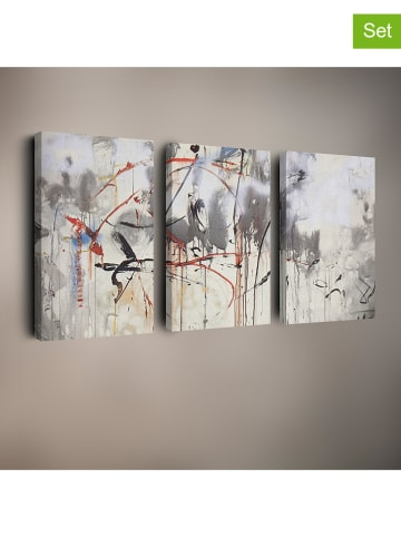 "Pandora Trade 3-delige set: kunstdrukken op canvas ""Salvador Dali 2"""