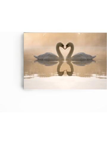 "Pandora Trade Leinwanddruck ""Love of swans"" - (B)90 x (H)60 cm"