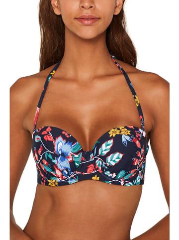 ESPRIT Biustonosz bikini w kolorze granatowym ze wzorem