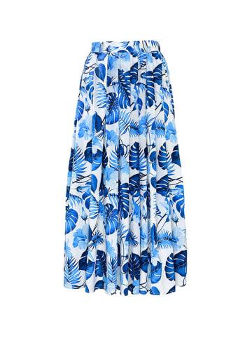 Molton Spódnica w kolorze niebiesko-białym ze wzorem