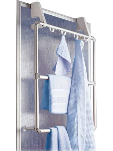 """Wenko Uchwyt """"Compact"""" w kolorze srebrnym na ręczniki - (S)62,5 x (W)78 x (G)14,5 cm"""