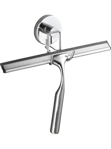 Wenko Ściągaczka prysznicowa w kolorze srebrnym - (S)25 x (W)21,5 x (G)6 cm